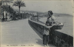 Woman and Child by Seawall