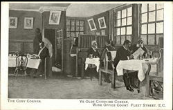 The Cosy Corner, Ye Olde Cheshire Cheese Wine Office Court.