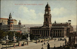 Post Office and Tower Gardens Postcard