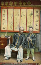 Asian School Master and Pupil
