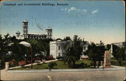 Hamilton Cenotaph and Government Buildings Postcard
