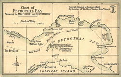 Chart of Betrothal Bay Showing Male Route to Churchdoor