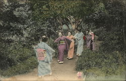 Japanese Women in the Woods