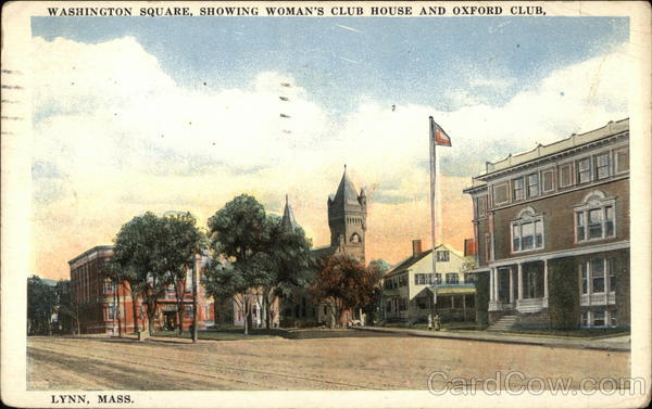 Washington Square - Woman's Club House and Oxford Club Lynn Massachusetts