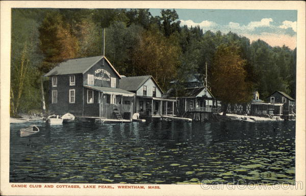 Lake Pearl - Canoe Club and Cottages Wrentham Massachusetts