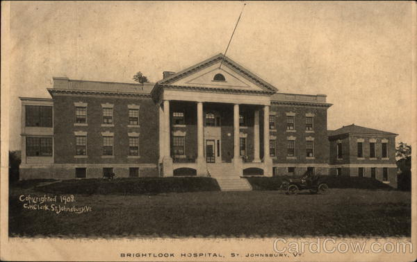 Brightlook Hospital St. Johnsbury Vermont E. H. Clark