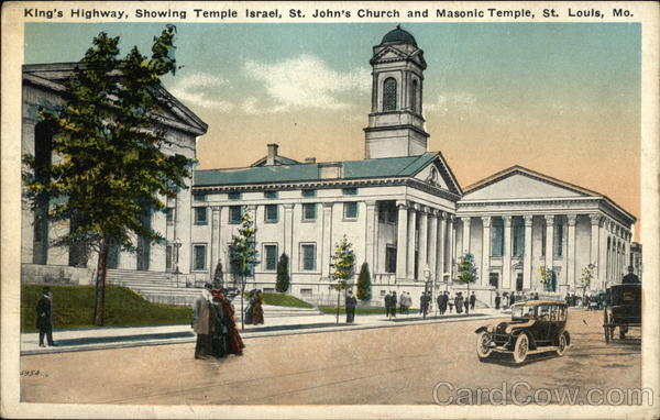 King's Highway - Temple Israel, St. John's Church and Masonic Temple St. Louis Missouri