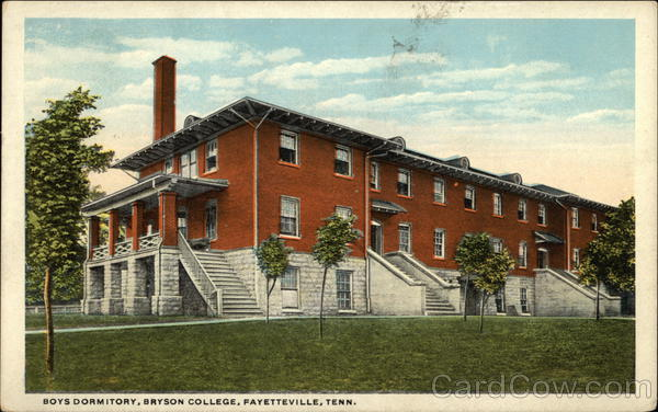 Boys Dormitory, Bryson College Fayetteville Tennessee