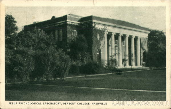 Jesup Psychological Laboratory, Peabody College Nashville Tennessee