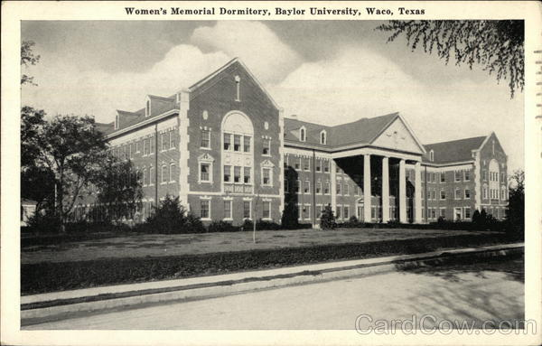 Women's Memorial Dormitory, Baylor University Waco Texas