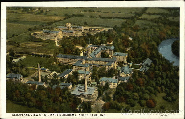 Aeroplane View of St Mary's Academy Notre Dame Indiana