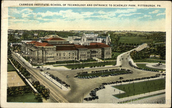 Carnegie Institute, School of Technology, Enytrance to Schenley Park Pittsburgh Pennsylvania