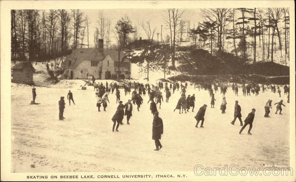 Cornell University - Skating on Beebee Lake Ithaca New York