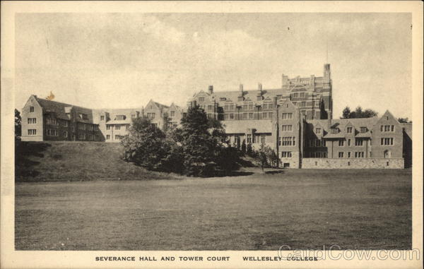 Wellesley College - Severance Hall and Tower Court Massachusetts