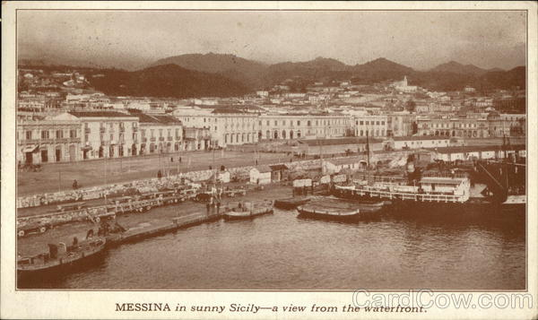 View of the Waterfront Messina Italy