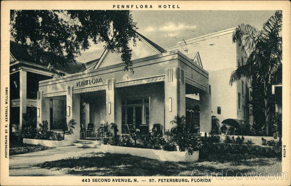 Pennflora Hotel St. Petersburg Florida R. Kendall Williams