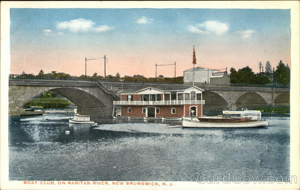 Boat Club on Raritan River New Brunswick New Jersey