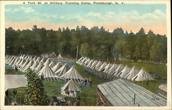 A Tent St. at Military Training Camp Plattsburgh New York