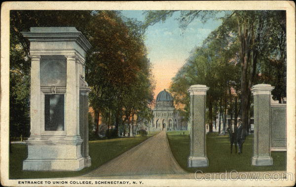Entrance to Union College Schenectady New York