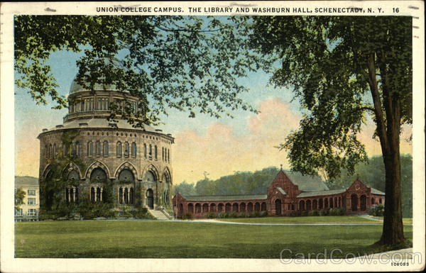 Union College Campus, The Library and Washburn Hall Schenectady New York