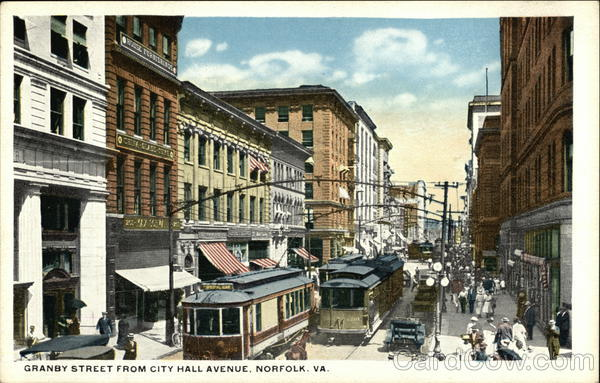 Granby Street from City Hall Avenue Norfolk Virginia
