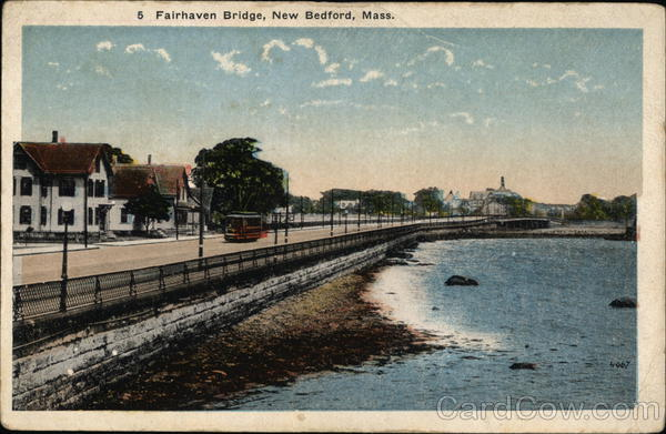Water View at Fairhaven Bridge New Bedford Massachusetts