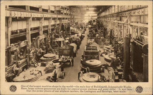 General Electric - The Main Bay of Building 60, Schenectady Works New York
