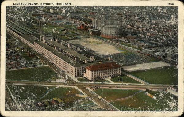 Aerial View of Lincoln Plant Detroit Michigan