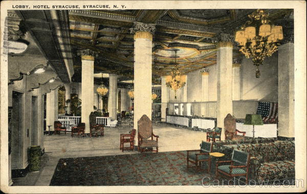 Lobby, Hotel Syracuse New York
