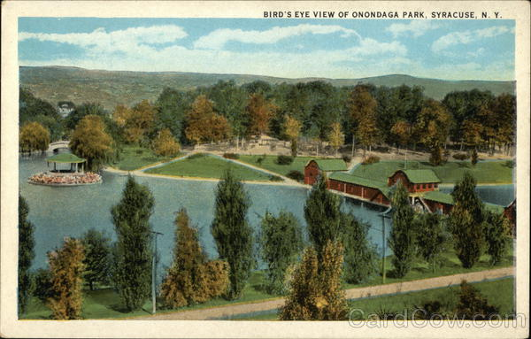 Bird's Eye View of Onondaga Park Syracuse New York