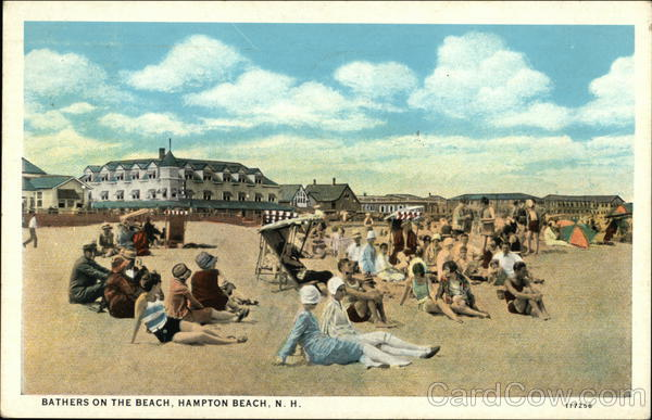 Bathers on the Beach Hampton Beach New Hampshire