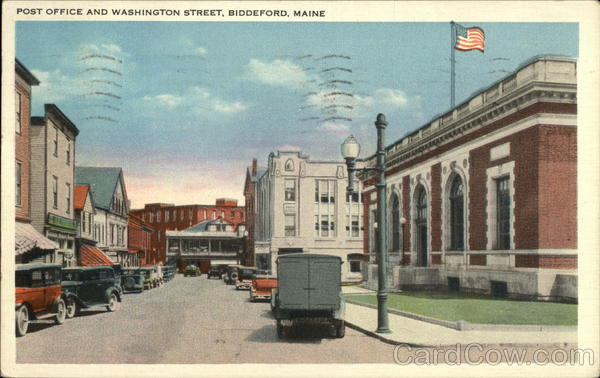 Post Office and Washington Street Biddeford Maine