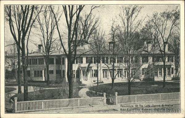 Residence of the Late James G. Blaine, now Executive Mansion Augusta Maine