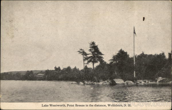 Lake Wentworth, Point Breeze in the Distance Wolfeboro New Hampshire