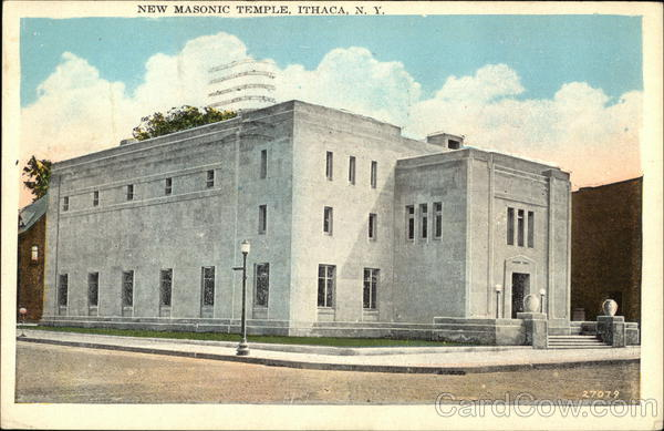 New Masonic Temple Ithaca New York Freemasonry