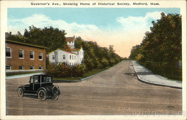 Governor's Avenue, Showing Home of Historical Society Medford Massachusetts