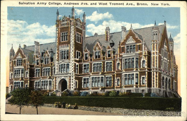 Salvation Army College, Andrews Avenue and West Tremont Avenue Bronx New York