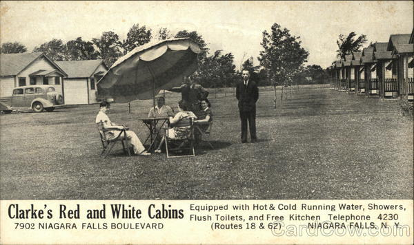 Clarke's Red and White Cabins, 7902 Niagara Falls Boulevard New York