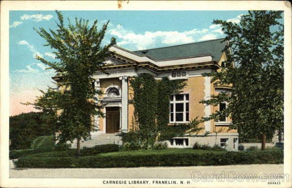 Carnegie Library Franklin New Hampshire