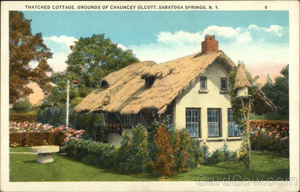 Thatched Cottage, Grounds of Chauncey Olcott Saratoga Springs New York