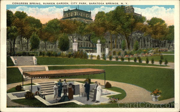 Congress Spring, Sunken Garden, City Park Saratoga Springs New York