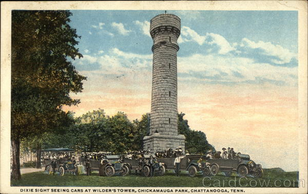 Dixie Sight Seeing Tours at Wilder's Tower, Chickamauga Park Chattanooga Tennessee