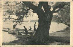 Boat Landing at lake Massapoag