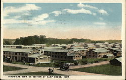 Bird's-Eye View of Section of Camp Dodge