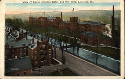 View of Canal, showing Bates and Hill Mills