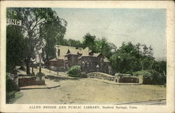 Allen Bridge and Public Library Postcard