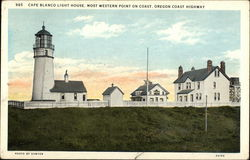 cape Blanco Light House, Most Western Point on Coast, Oregon Coast Highway