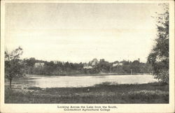 Looking Across the Lake from the South, Connecticut Agricultural College
