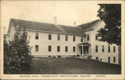 Whitney Hall, Connecticut Agricultural College