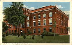 NW College, Fisk Hall Postcard
